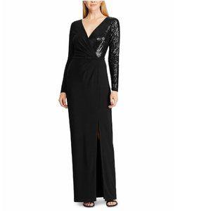 Lauren Ralph Lauren Sequined Maxi Wrap Dress